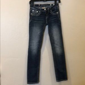 Girls Miss Me Jeans with decorative pockets